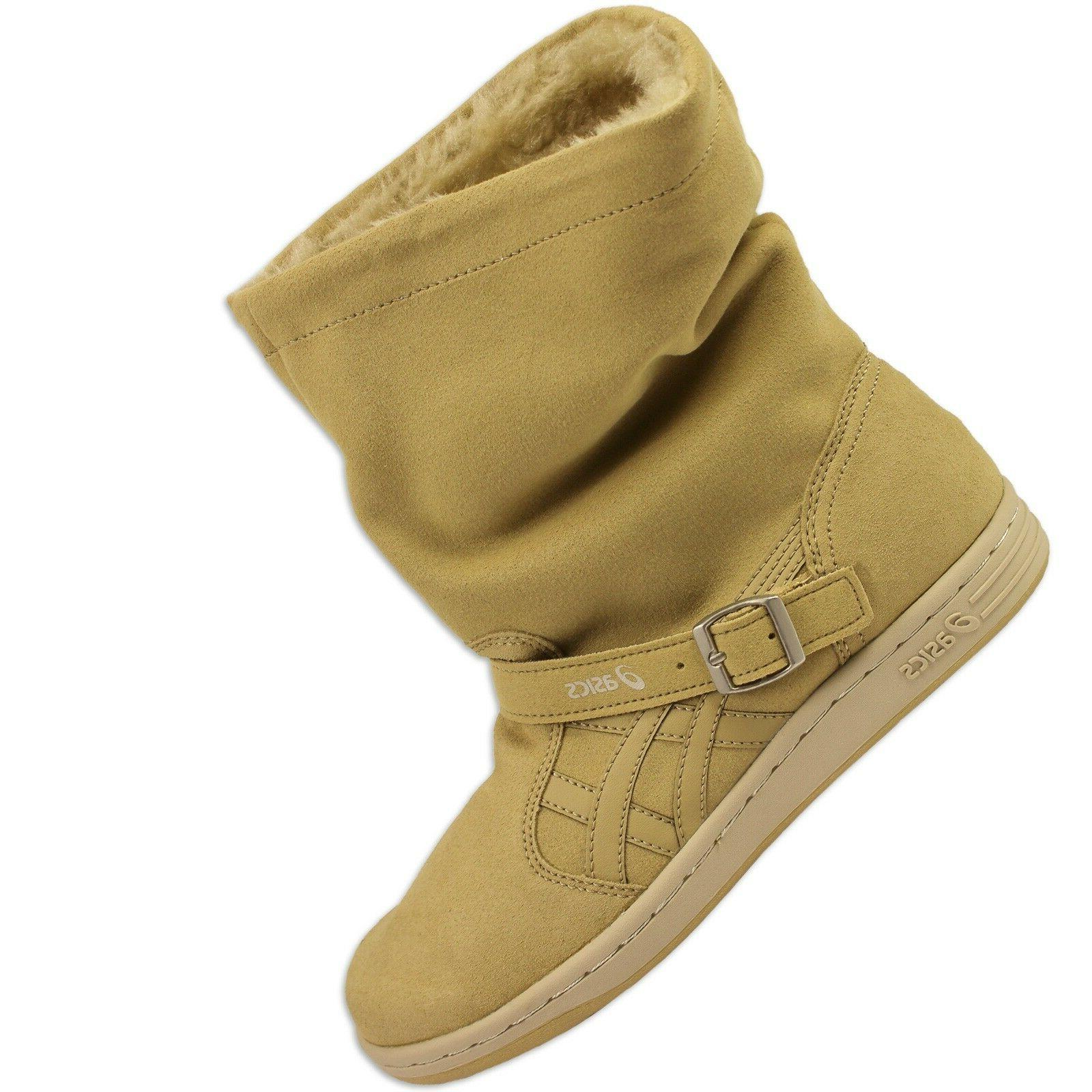 asics meriki winter boots ankle boots camel