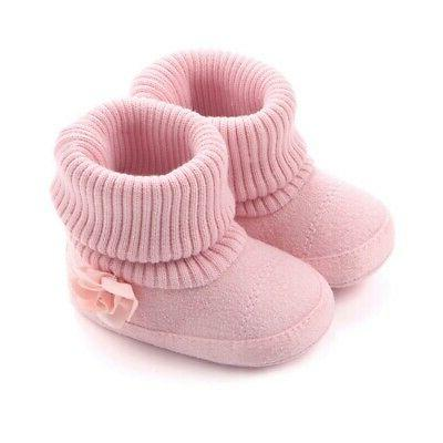 Baby Girl Warm Ankle Boots Booties Infant Soft Shoes