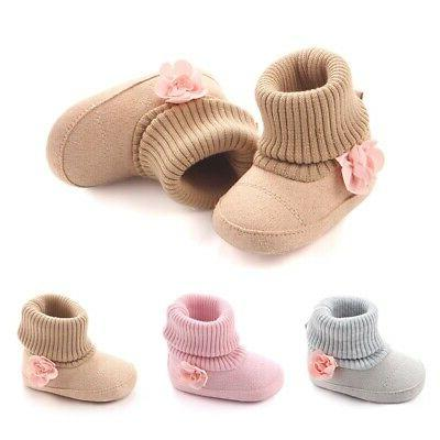 Baby Girl Boys Winter Warm Ankle Boots Booties Infant Soft S