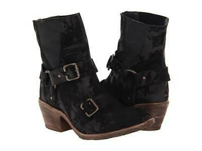 boots black new leather pull on sz