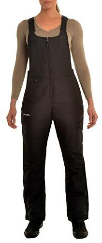 Women's Insulated Overalls Bib, 1X, Black