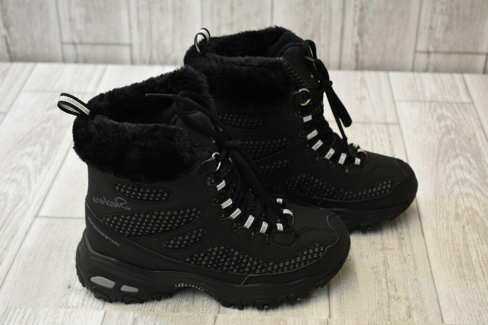 SKECHERS D'Lites Snow Plaza Women's Size Black