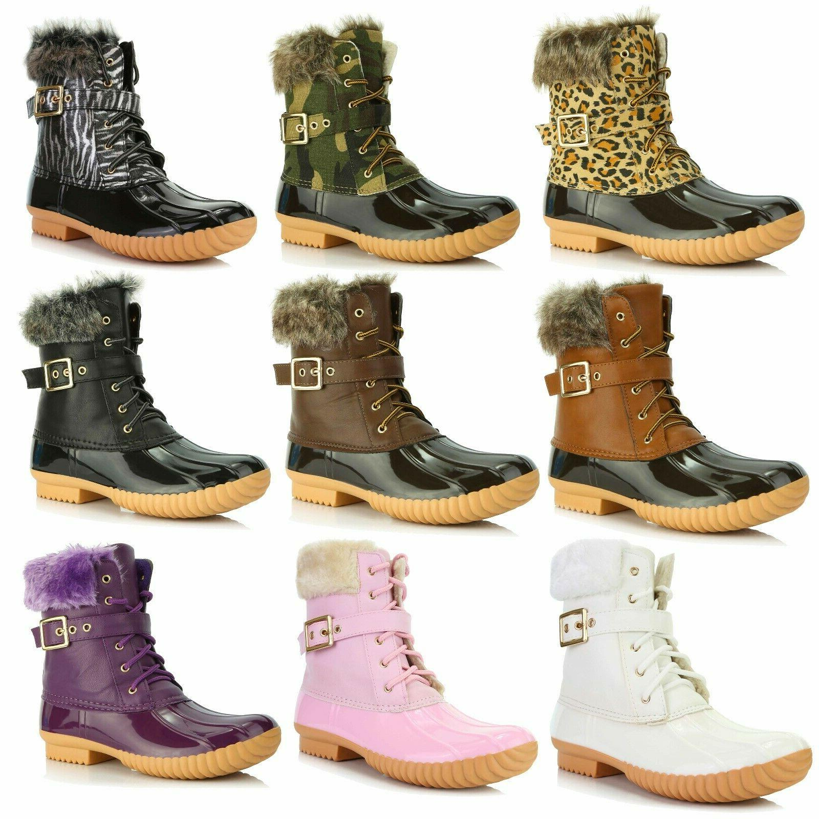 dailyshoes women snow booties ankle buckle duck