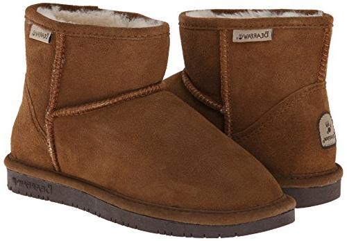 BEARPAW Demi Winter Boot, Hickory/Choco, 7 M US