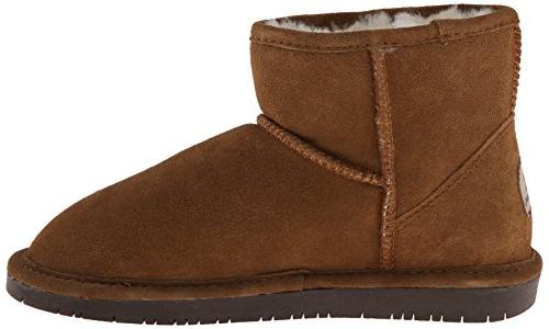 BEARPAW Women's Boot, Hickory/Choco, 7 US