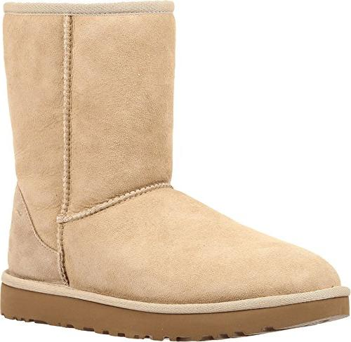 genuine shearling lined short boot