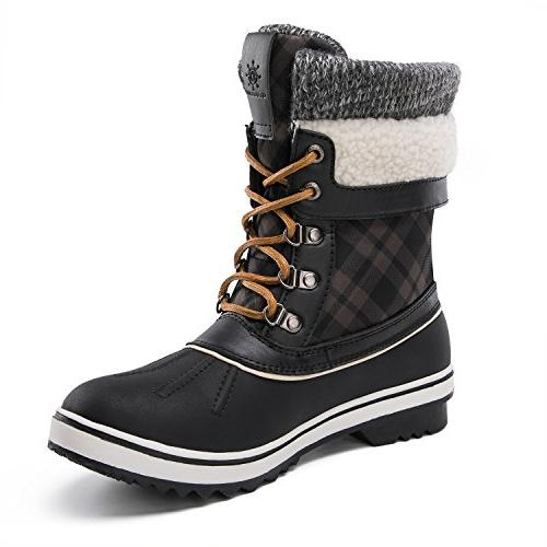 GLOBALWIN Women's Winter Boots Black D US
