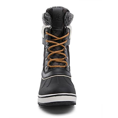 GLOBALWIN Women's Winter Boots Black US Women's