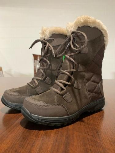ice maiden brown waterproof insulated winter boots