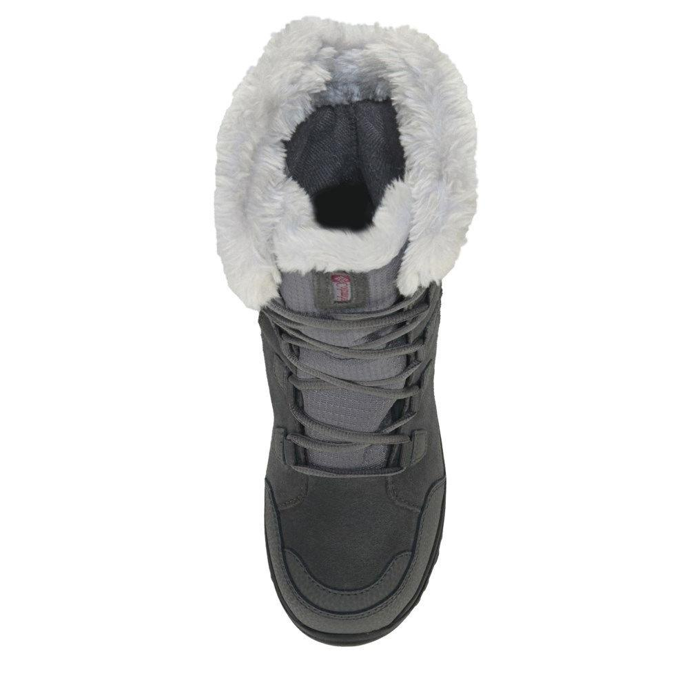 Columbia Ice Maiden Fur Winter Boots Shale