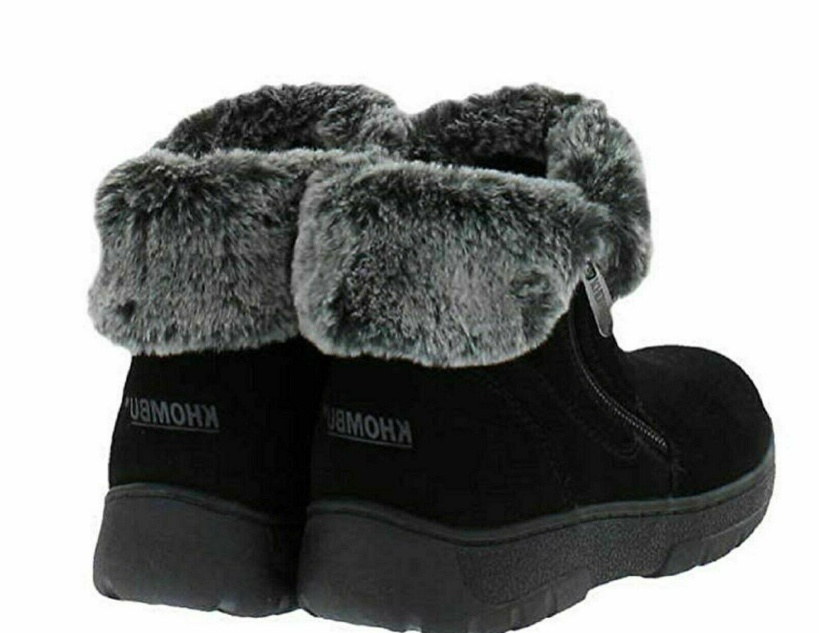 Khombu Jessica Suede Faux Snow Ankle Boots ~ ~ All