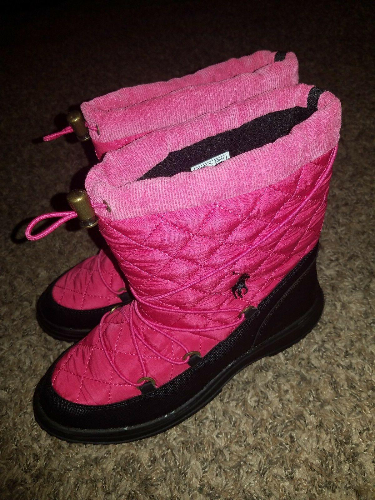 juniors pink boots size 6