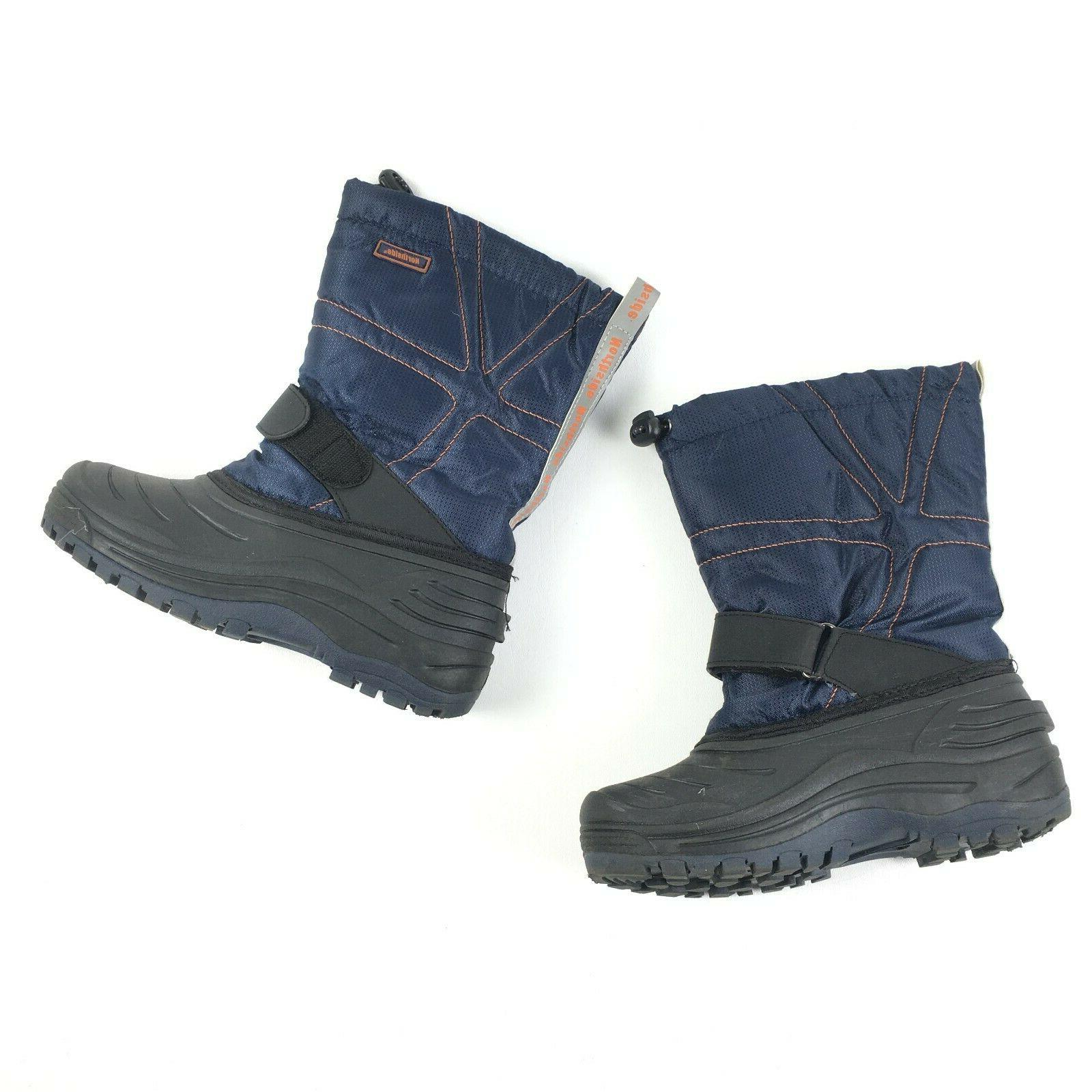 kids blue kids youth rubber winter boots