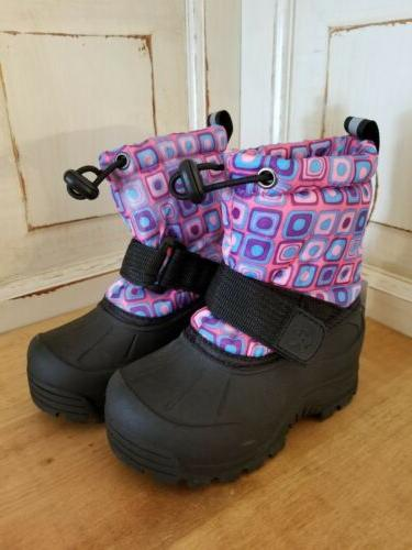kids size 6 winter boots insulated waterproof