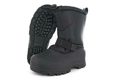 kids snow boots black casual outdoor winter
