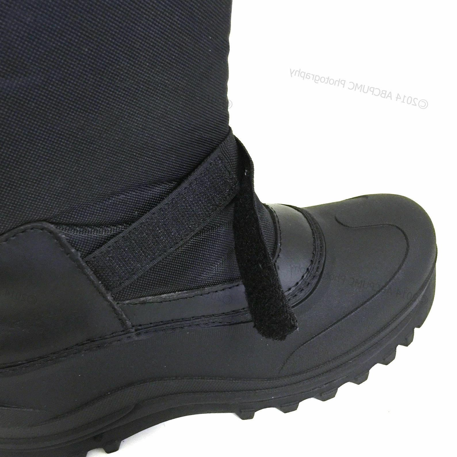 L&M Black Snow Boots Shoes Warm Thermolite Waterproof
