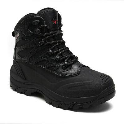 NORTIV 8 Mens Waterproof Lace Up Outdoor Winter Boots