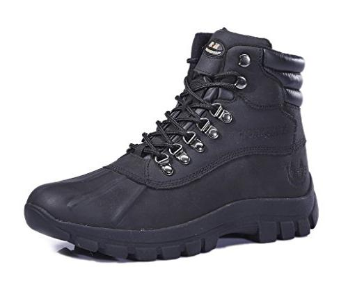 men s m0705 water proof black leather