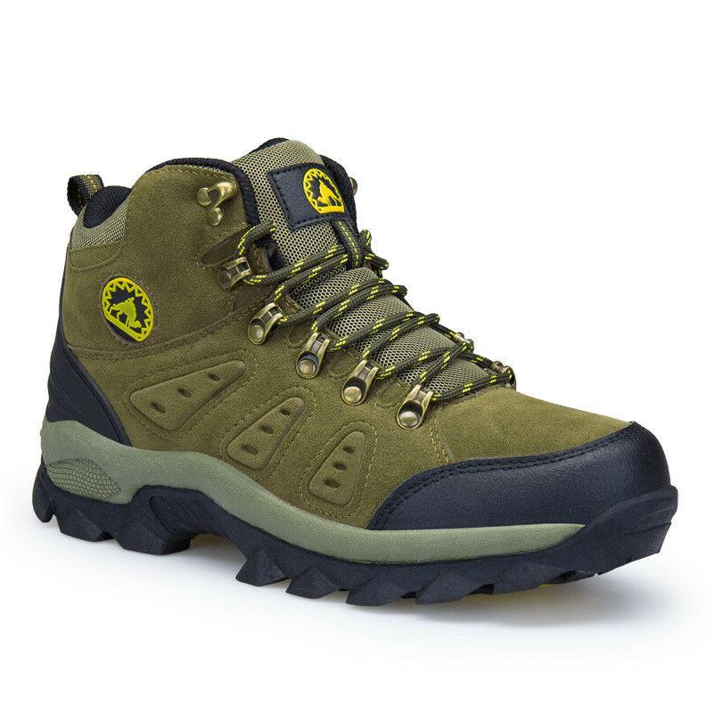 Men's leather winter tactical hiking boots