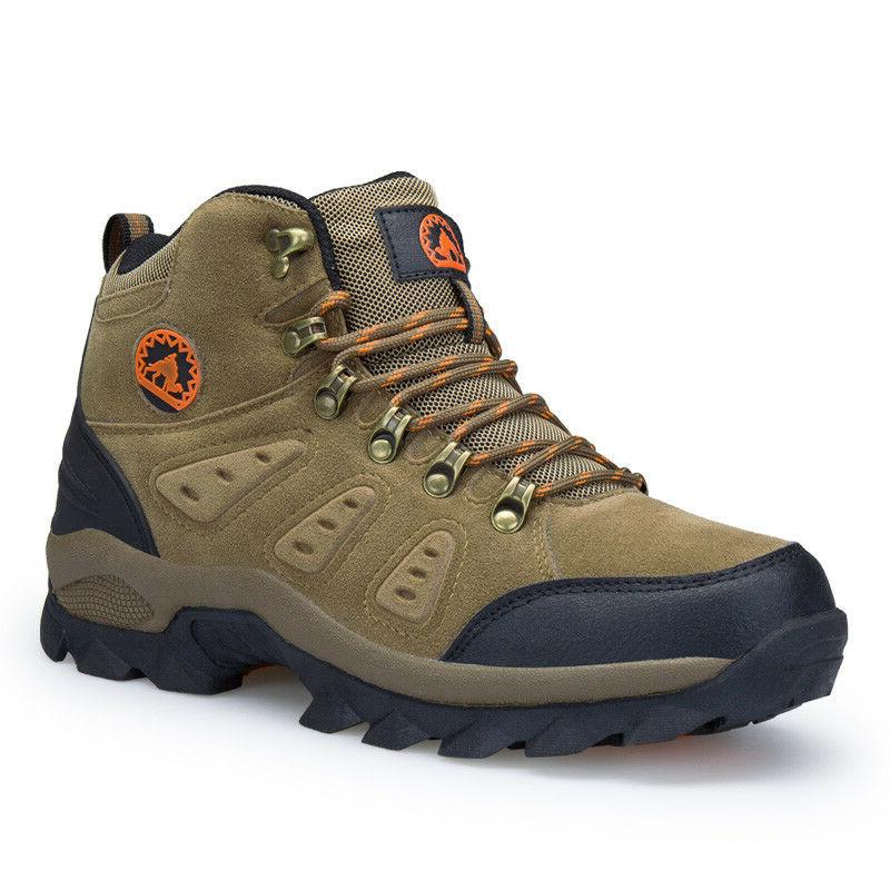Men's waterproof lightweight leather winter outdoor tactical boots