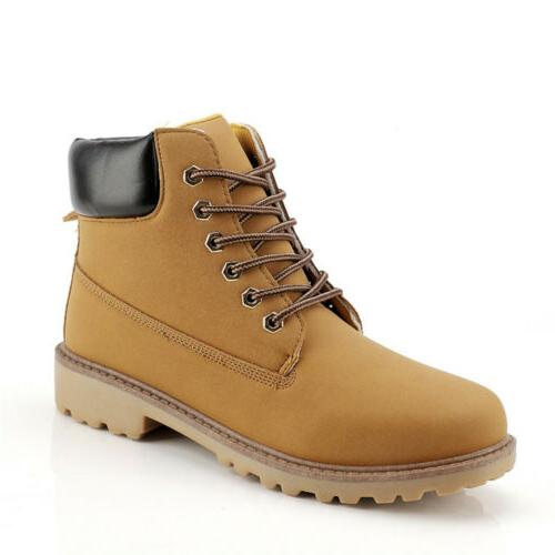 Mens Leather Waterproof Winter Snow Martin Boots