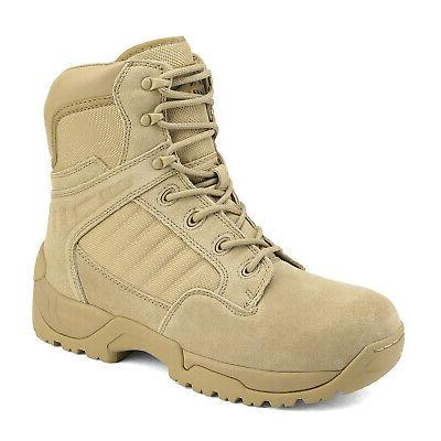 Tactical Work Boots Side Zipper Ankle Boots