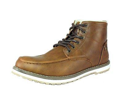 mens classic winter brown leather boot us