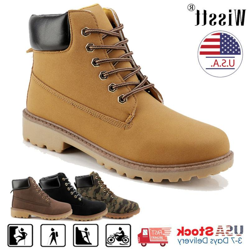 mens leather waterproof boots winter snow martin