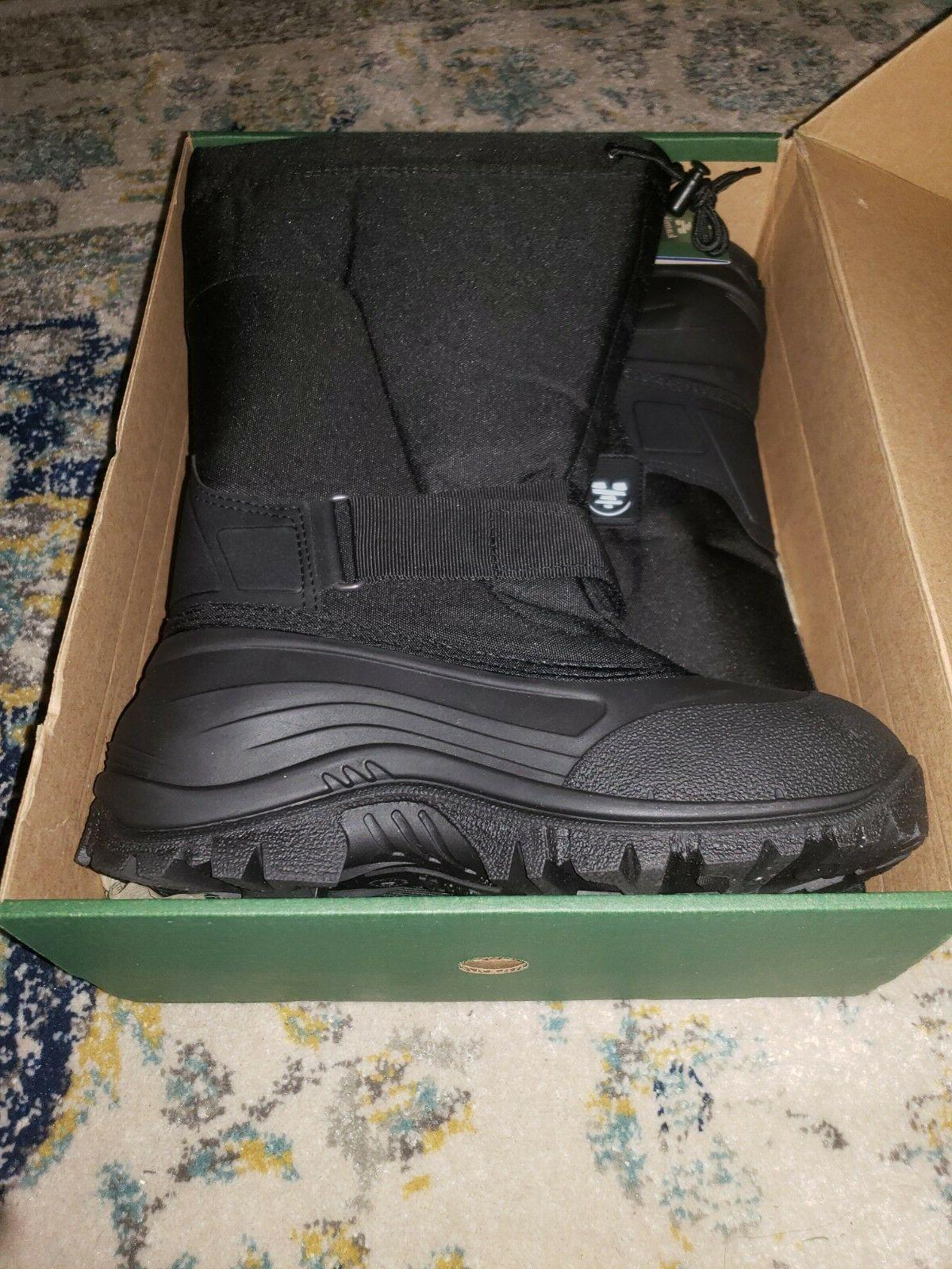 mens size 9 black winter boots insulated