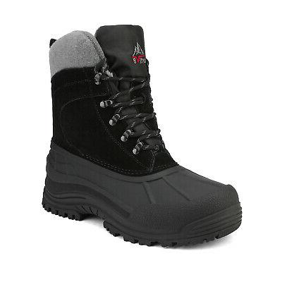 mens snow boots insulated waterproof rugged winter