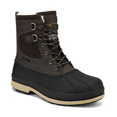 mens waterproof leather hiking work boots snow