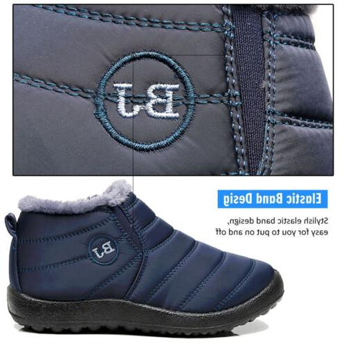 Mens Winter Snow Boots Fur Lined On Shoes