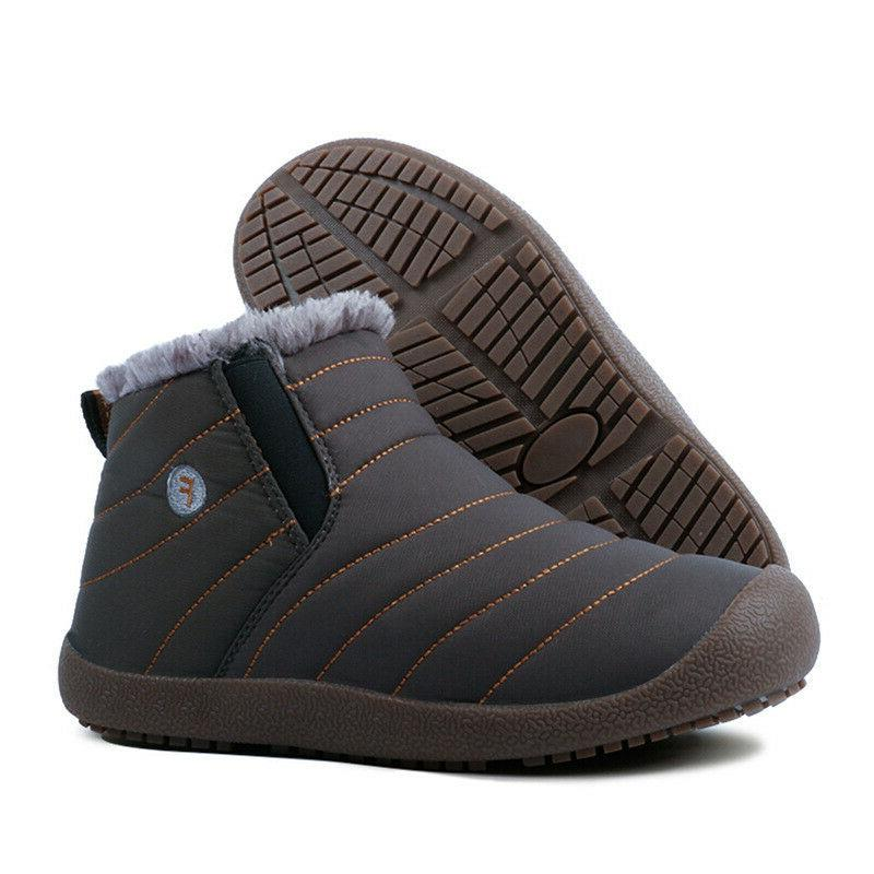 mens winter snow ankle boots slippers casual