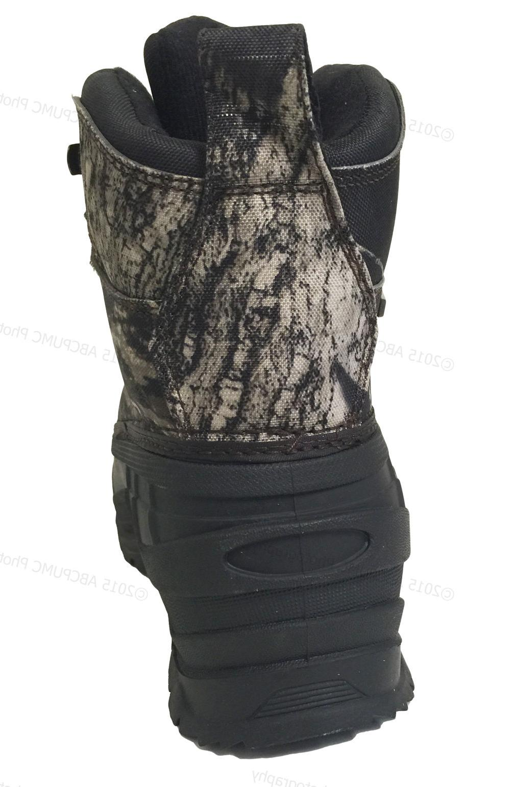 Mens Snow Boots Camouflage Waterproof Insulated Thermolite