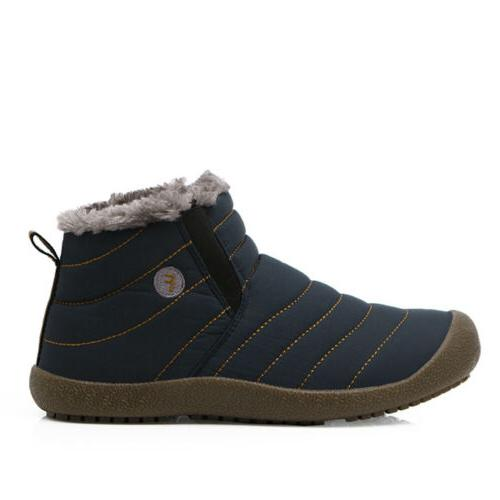Mens Snow Ankle Shoes Casual Waterproof