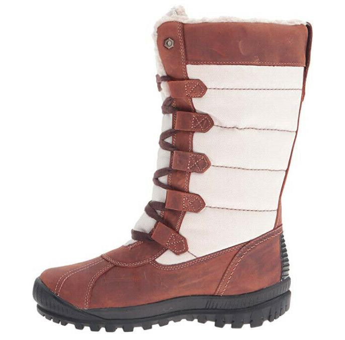 Timberland Tall Brown Leather Boots Womens 6 NEW