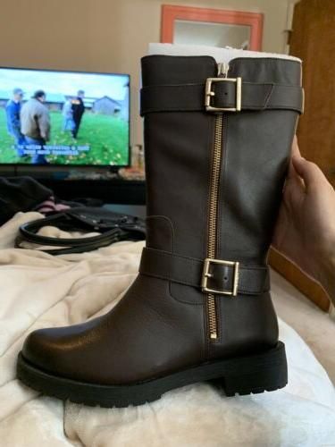 mystic marlow leather supportive boots black size