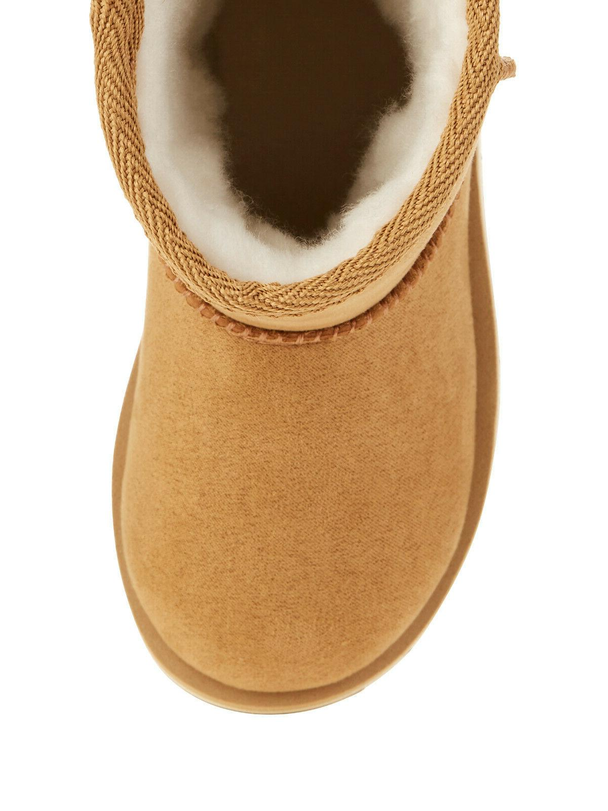 NEW GIRLS FAUX SHEARLING ON BROWN BOOTS