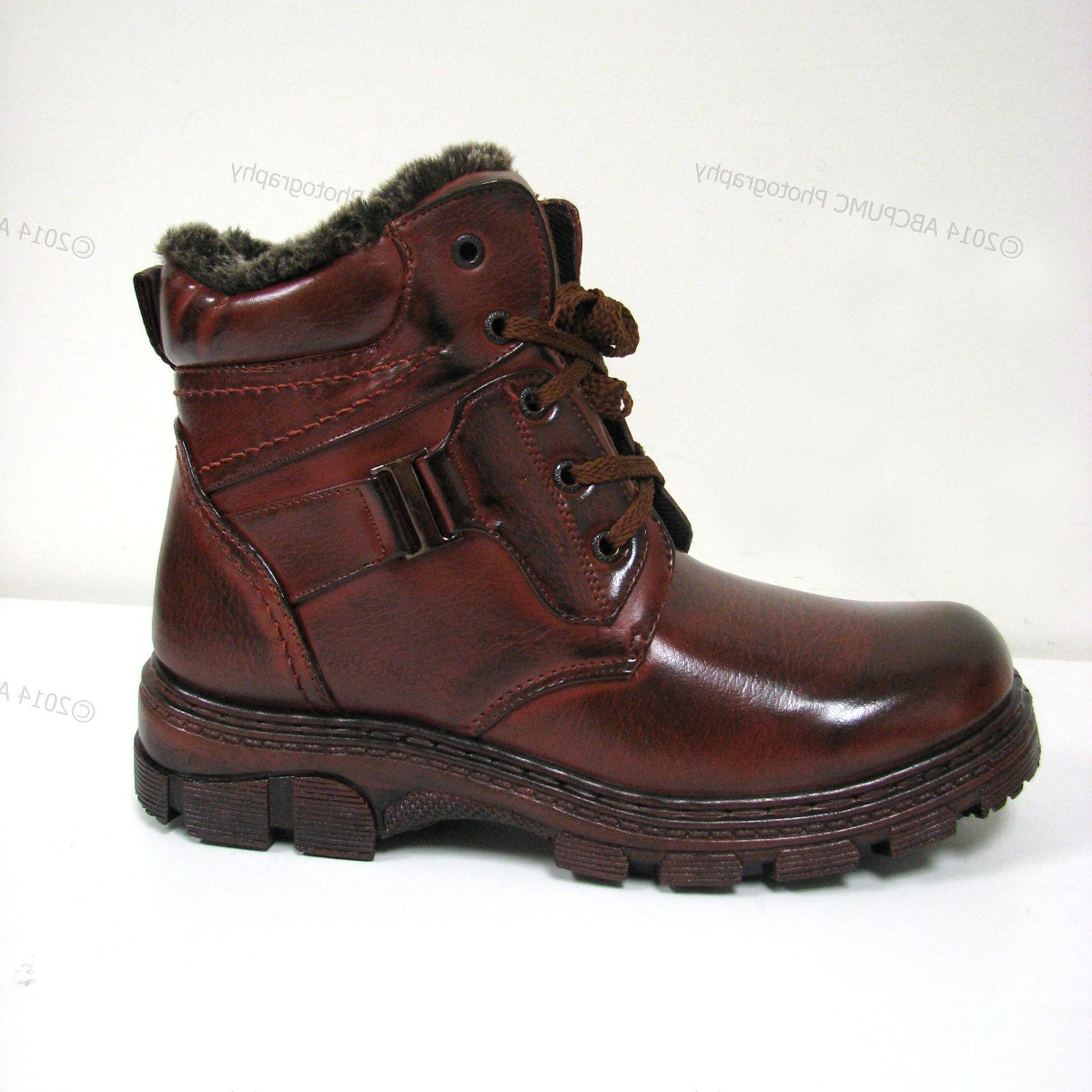 New Men's Brown Ankle Fashion Full Lined