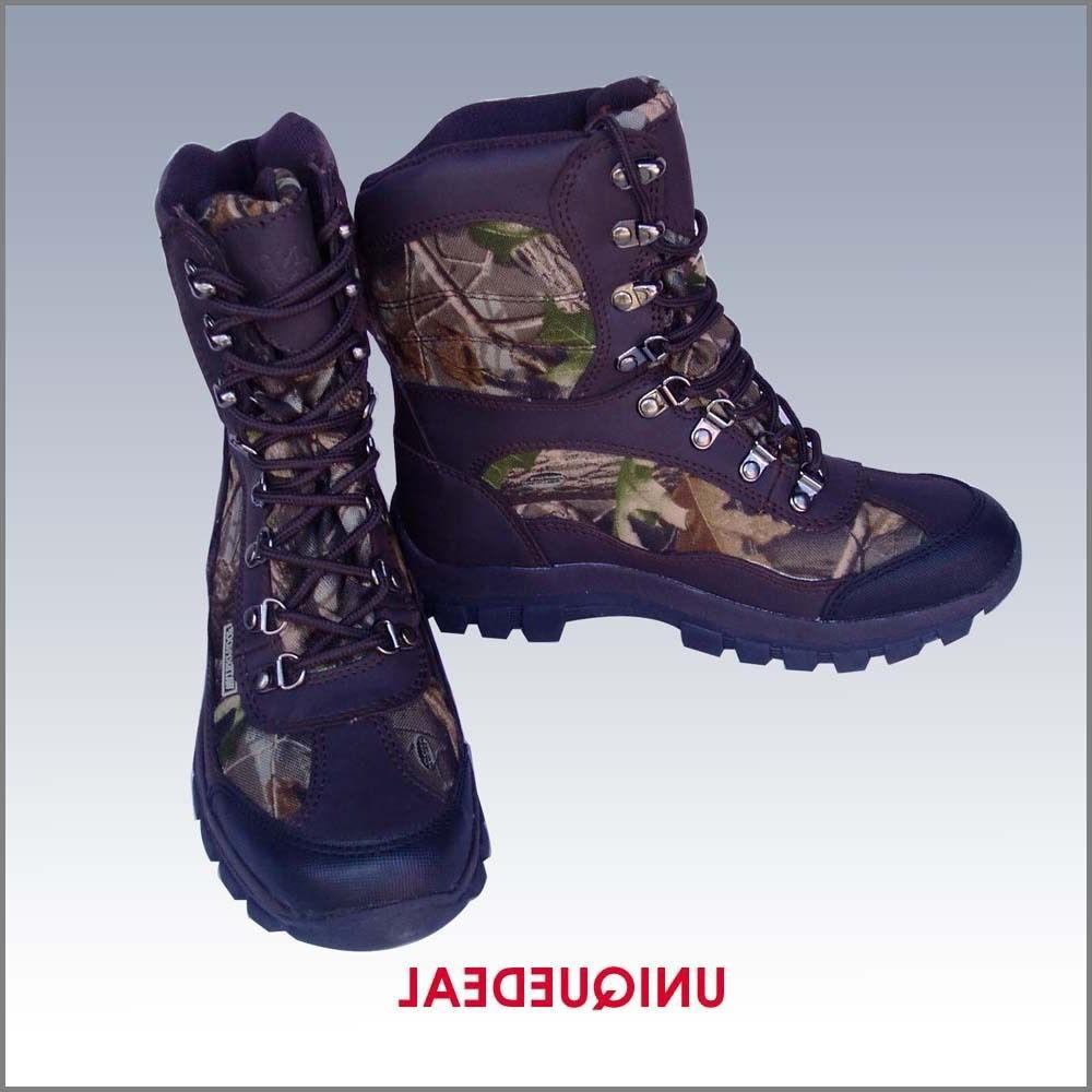 NEW MENS SNOW WINTER HUNTING BOOTS CAMO