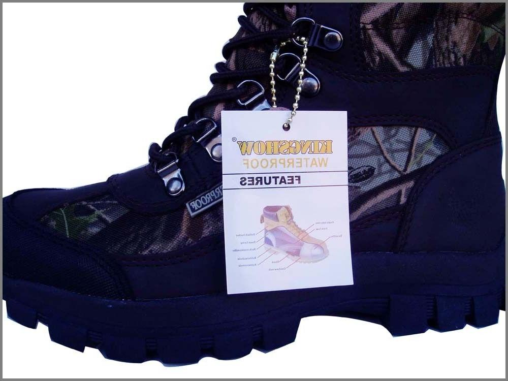 NEW *KINGSHOW* SNOW WINTER HUNTING BOOTS WATERPROOF CAMO