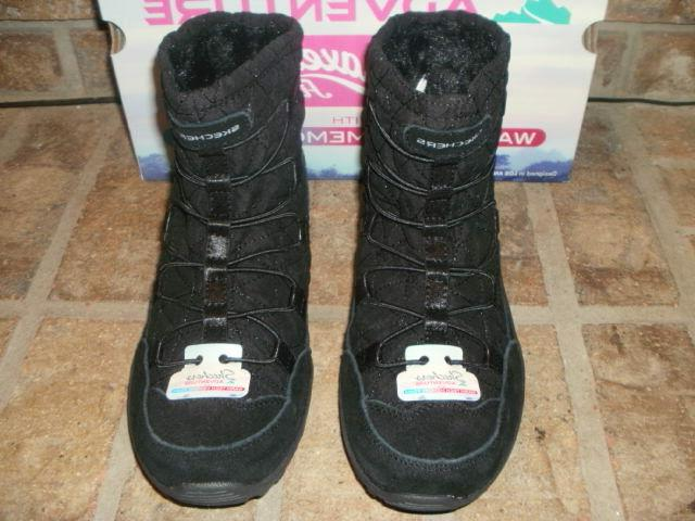NEW BLACK LEATHER-FABRIC BOOT 49301/ MSRP