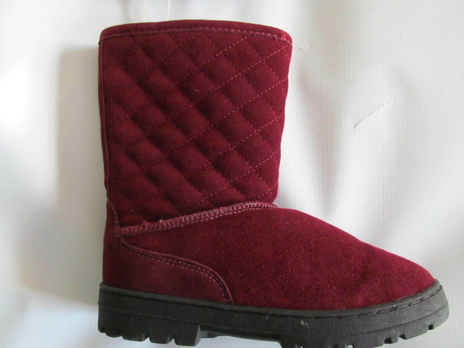 new suede faux fur winter boots size