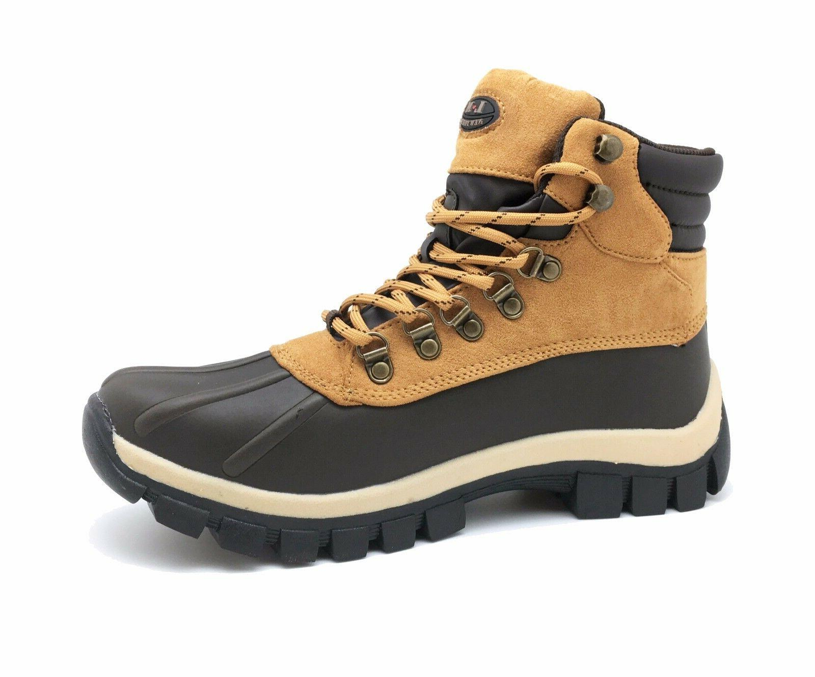 New Winter Snow Men's Work Boots Shoes Leather Lace Up 2017