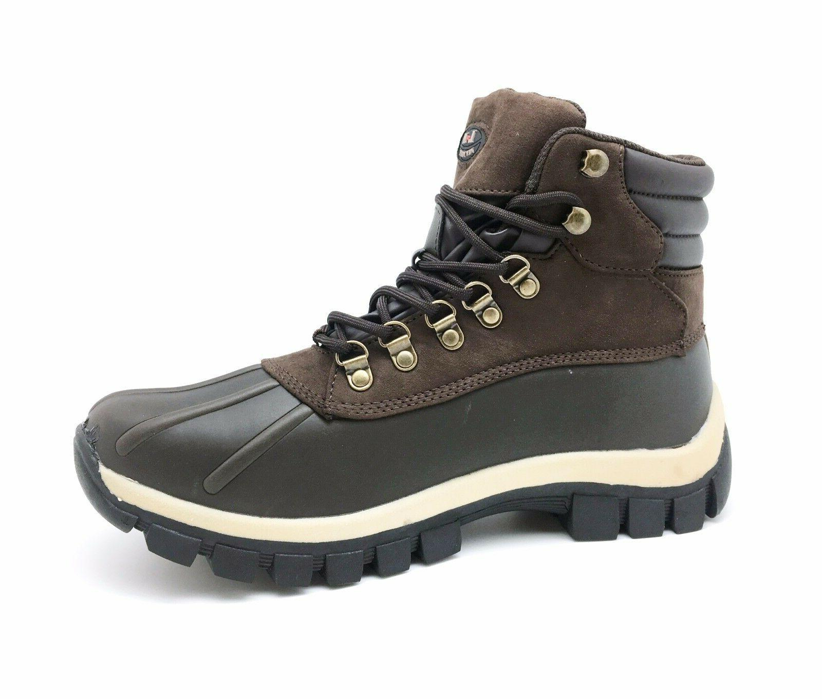New Winter Boots Men's Work Boots Leather Lace Up 2017