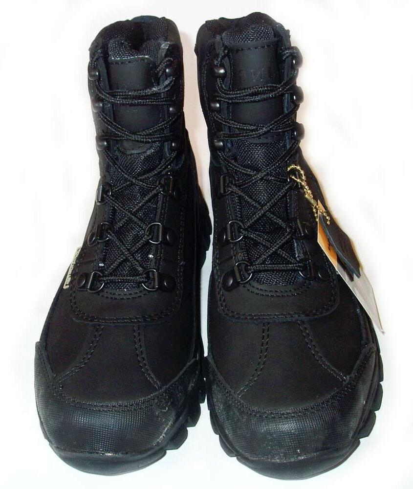 New KINGSHOW Leather Snow Boots -- BLACK