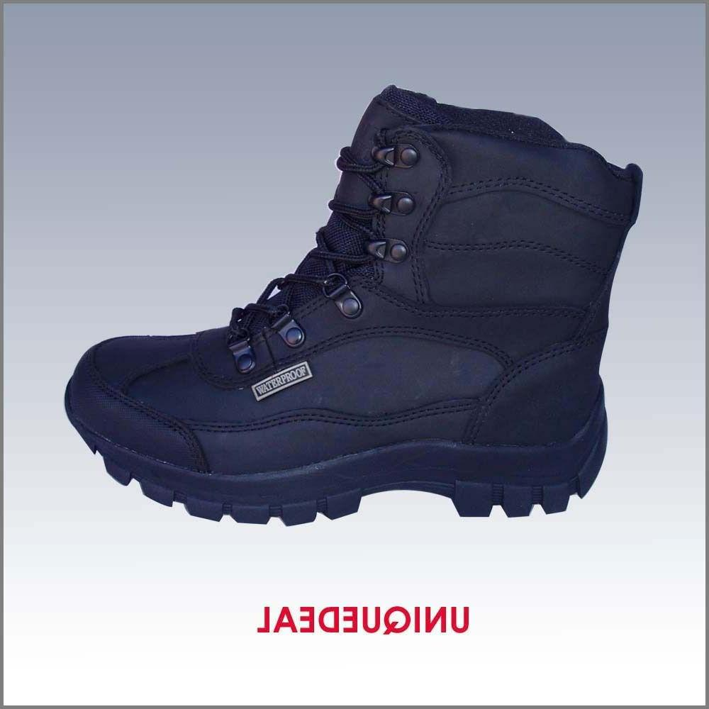 new winter warm men waterproof leather snow