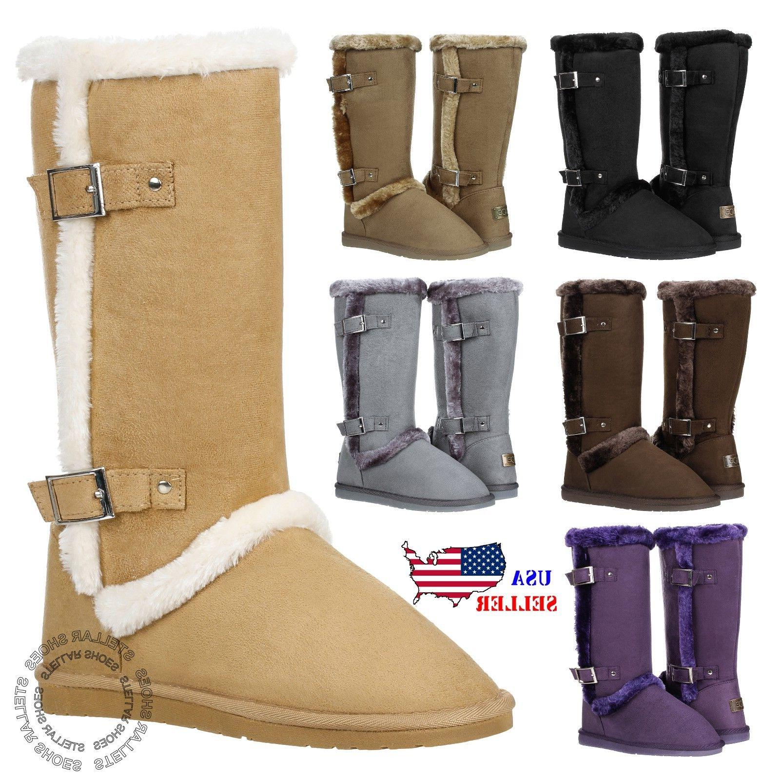 new women s mid calf twin buckle