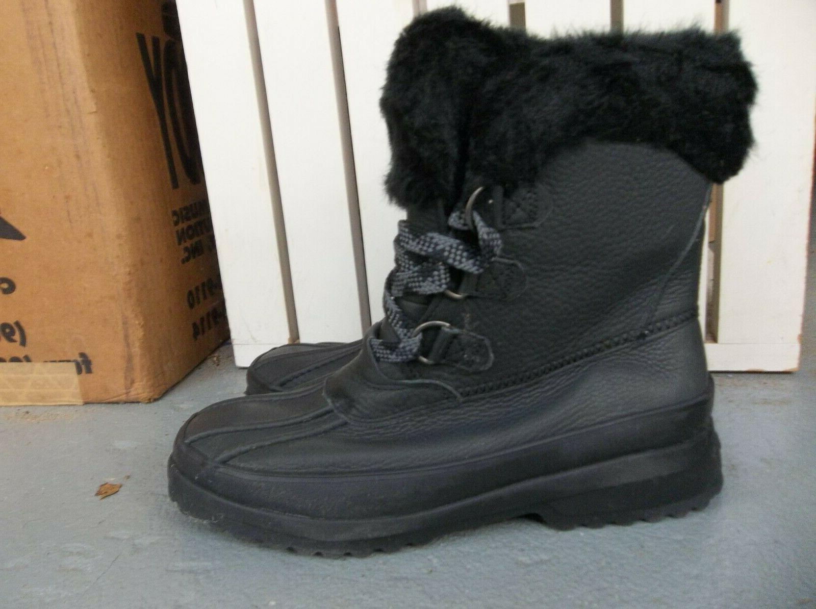 NEW WOMEN'S SPERRY TOP SIDER MARITIME WINTER LEATHER BOOTS.BLACK.SIZE 7.2019