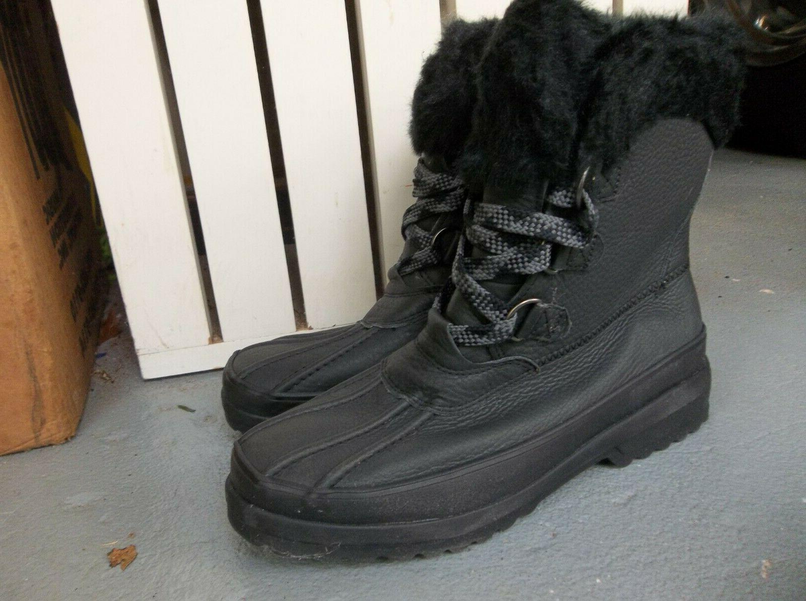 NEW WOMEN'S SPERRY TOP SIDER BOOTS.BLACK.SIZE 7.2019